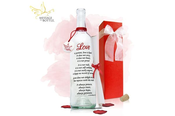 romantic birthday gifts for husband message in a bottle