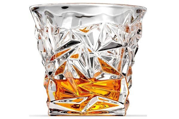 whisky gifts for him diamond cut shot glass