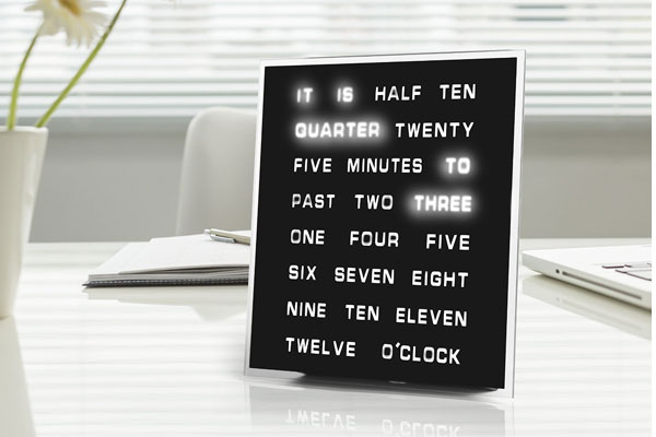 anniversary gift for husband LED word clock