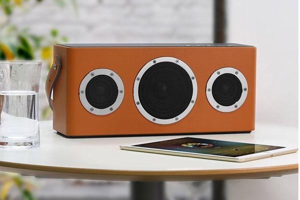 anniversary gift for husband leather speaker