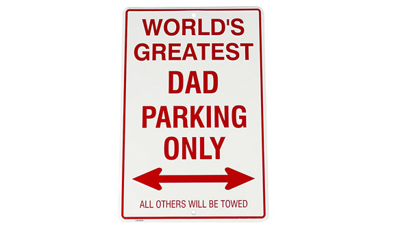 dad birthday gifts dad's parking sign