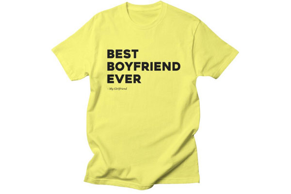 men t shirts best boyfriend ever