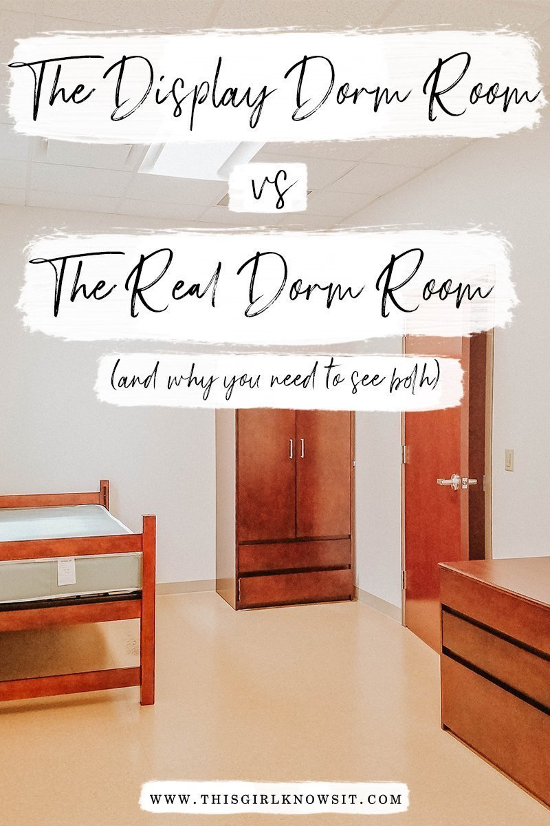 The Display Dorm Room vs the Real Dorm Room: Why You Need to See Both