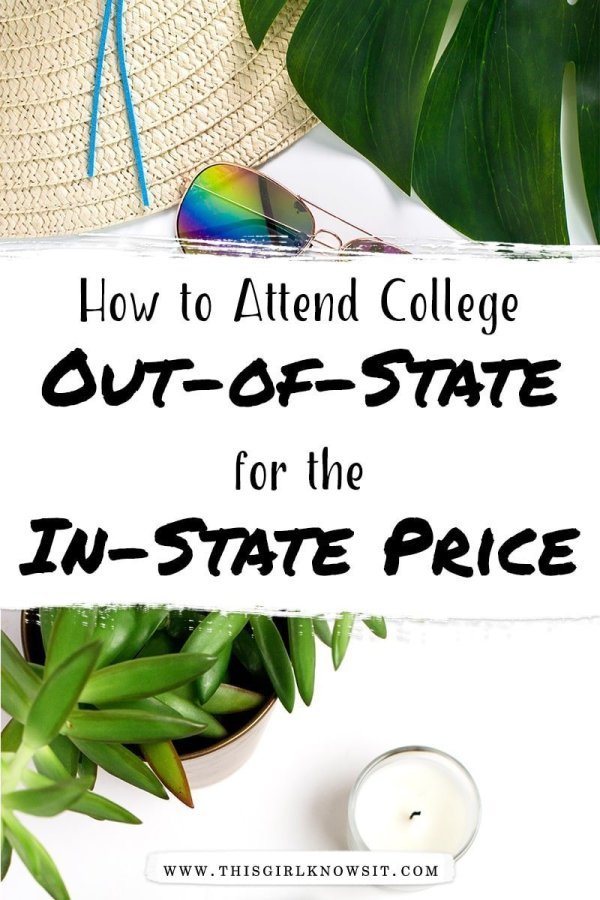 Wanting to attend college out-of-state, but deterred by the price? Check out this post for 3 ways to attend college out-of-state for the in-state price! #college #study #university #finance #highschool