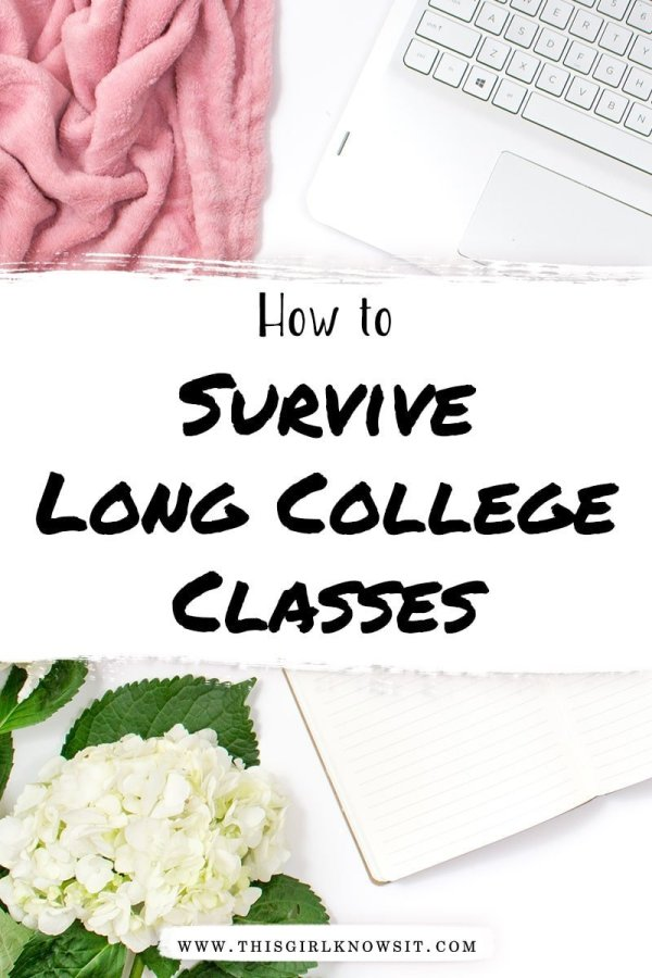 Long college classes can be a struggle to get through. This post breaks down 7 tips on how you can survive your long college classes. #college #university #student #class #study