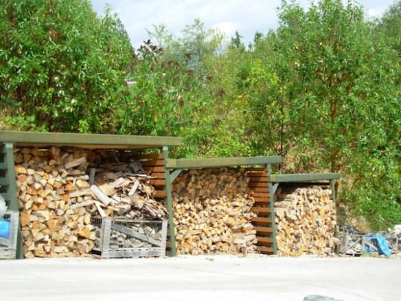 full wood bins
