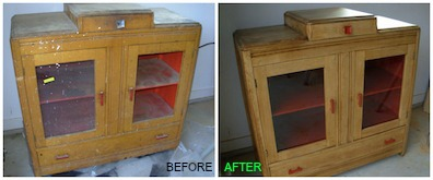 cabinet before & after