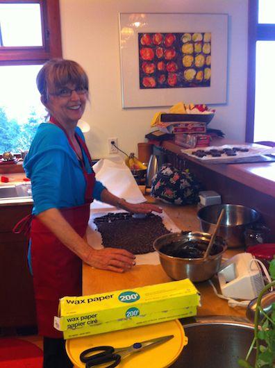 Cathy cooks