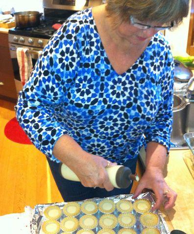 Claudia bakes tarts