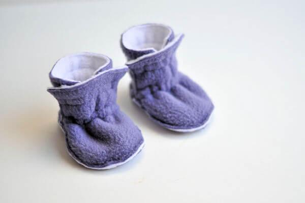Fleece Baby Booties