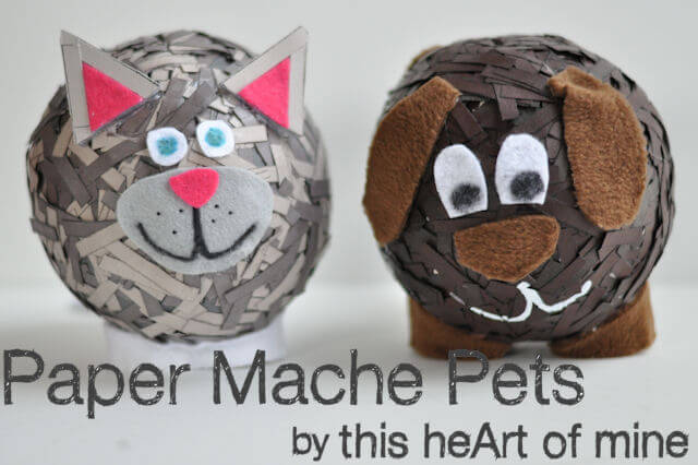 Paper mache pets this heart of mine for Best way to paper mache a balloon