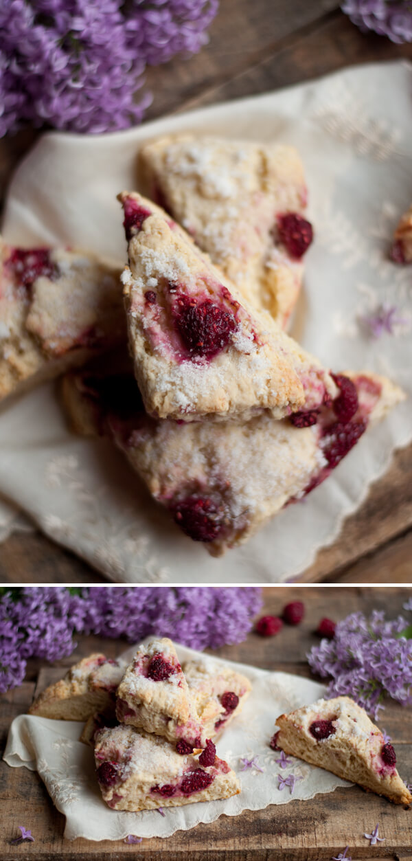 Lilac Sugar and Raspberry Scones 2