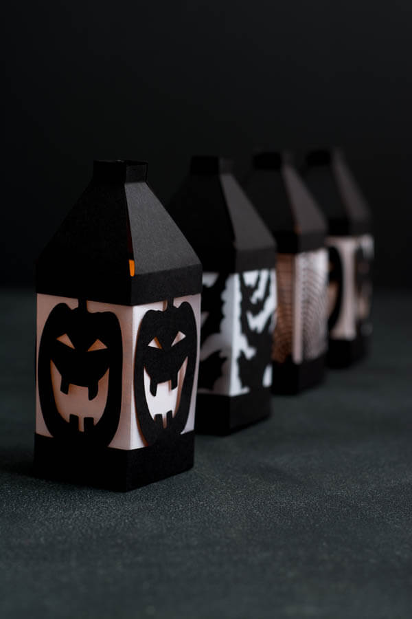 Halloween Paper Lanterns, made easy with a Cricut Explore! | this heart of mine