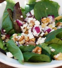 Grape Walnut & Feta Salad