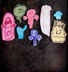 Image Transfer Doodle Magnets