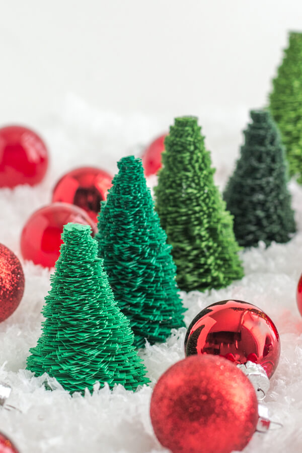 DIY: Paper Bottle Brush Trees with Design Mom | this heart of mine