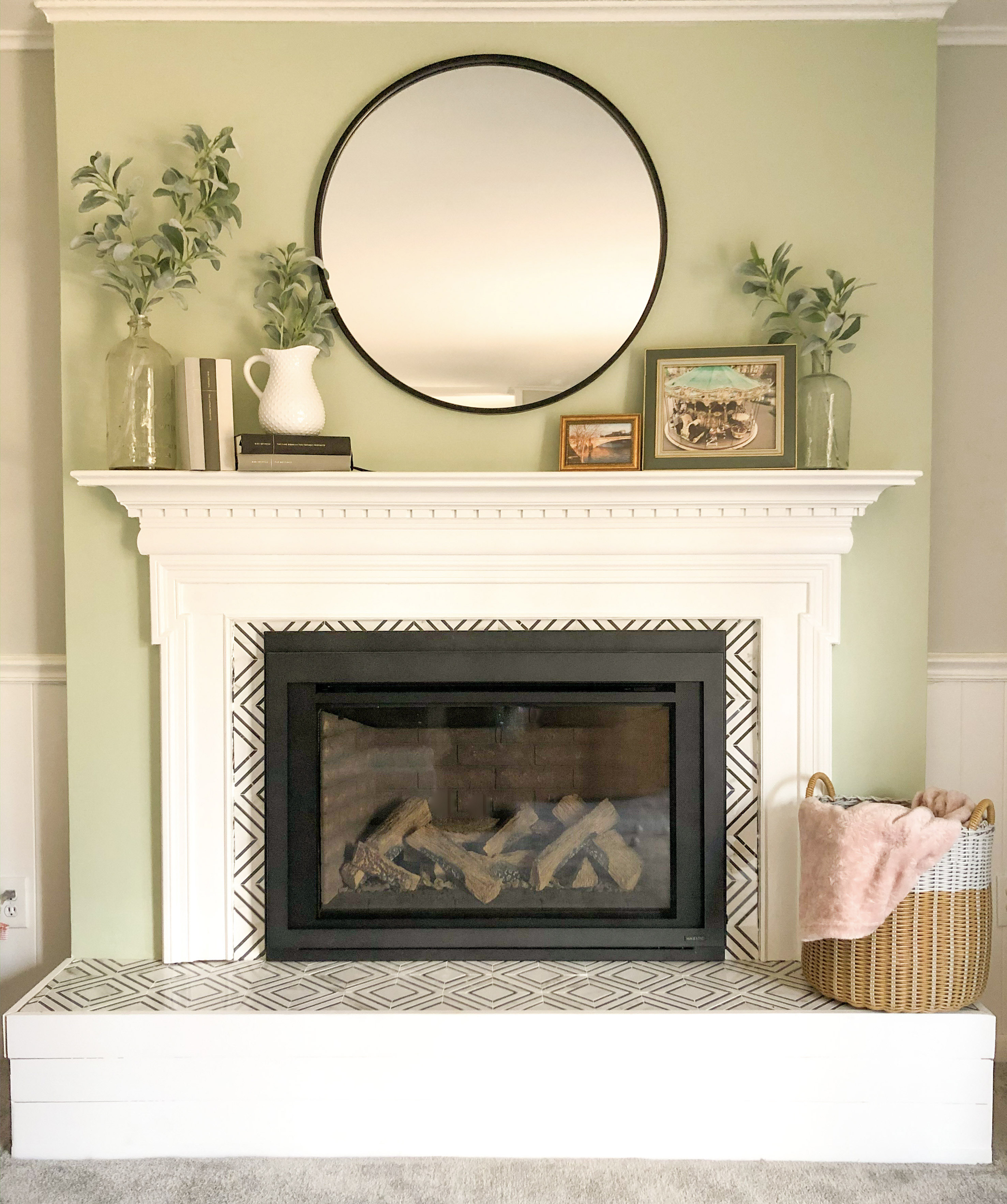 diy fireplace renovation tutorial