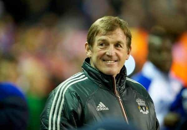 LIVERPOOL, ENGLAND - Tuesday, March 13, 2012: Liverpool's manager Kenny Dalglish before the Premiership match against Everton at Anfield. (Pic by David Rawcliffe/Propaganda)