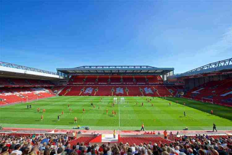 Anfield the 6th biggest stadium in England after summer ...
