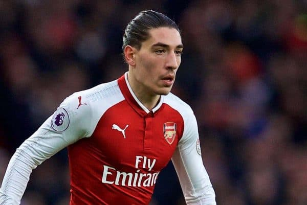 LONDON, ENGLAND - Friday, December 15, 2017: Arsenal's Hector Bellerin during the FA Premier League match between Arsenal and Newcastle United at the Emirates Stadium. (Pic by David Rawcliffe/Propaganda)