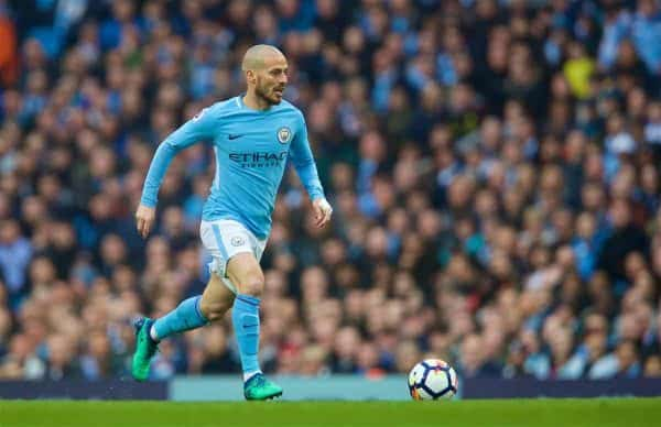 MANCHESTER, ENGLAND - Saturday, April 7, 2018: Manchester City's David Silva during the FA Premier League match between Manchester City FC and Manchester United FC at the City of Manchester Stadium. (Pic by David Rawcliffe/Propaganda)