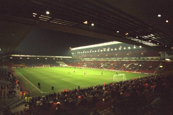 Liverpool, England - Wednesday, November 27th, 1996: A view of Anfield from the Spion Kop before the 4th Round of the League Cup at Anfield. (Pic by David Rawcliffe/Propaganda)
