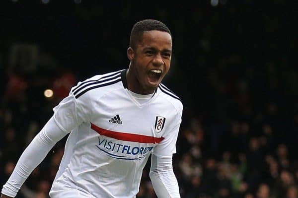 Fulham's Ryan Sessegnon (left) celebrates scoring his side's third goal of the game against Hull City