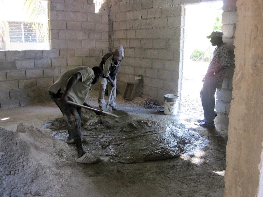 Poor concrete mixing practice include ground mixing