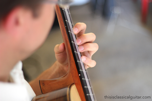 Left Hand Position (Player's View) - Classical Guitar
