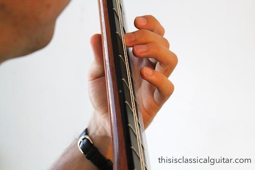 brad-Left Hand Fingers (second finger) - Classical Guitar-2-2016