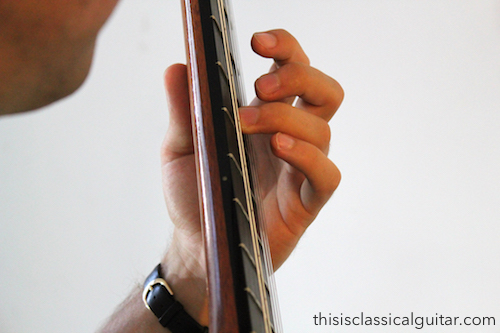 Left Hand Fingers (third finger) - Classical Guitar