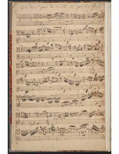 BWV 995 Title Page Autograph