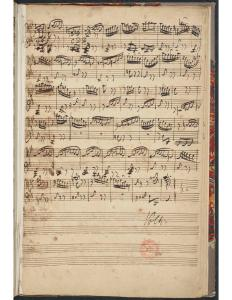 BWV 995 last page of tres viste, with messy copy, corrected notes