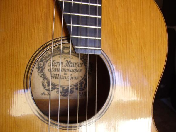 Guitar 1922 by Hermann Hauser with Lautenmacher label