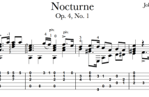 Nocturne Op.4, No.1 by Mertz - TAB Sample