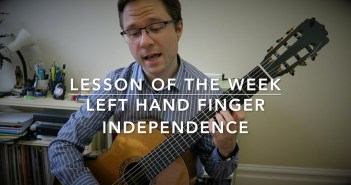 Lesson Left Hand Finger Independence for Guitar - Pumping Nylon