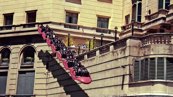Inception Park: Hovering Roller Coasters Fly Above the Streets of Buenos Aires video roller coasters Buenos Aires