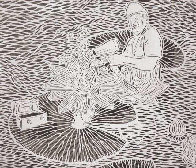 Cut Paper Illustrations by Bovey Lee paper illustration art