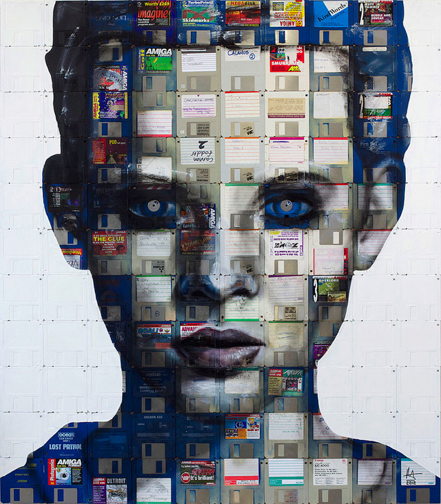 New Floppy Disk Portraits by Nick Gentry portraits computers art