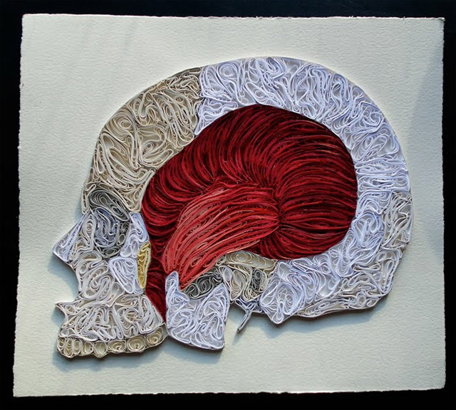 Quilled Paper Anatomy by Sarah Yakawonis quilling paper anatomy