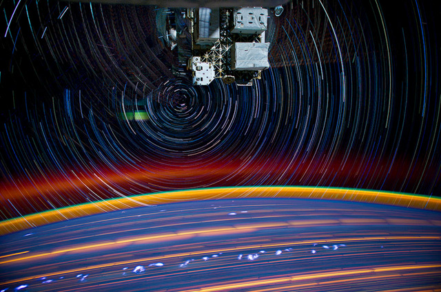 Star Trails: Incredible Long Exposure Photographs Shot from Space space photography