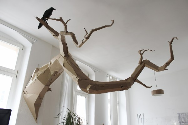 Cardboard Tree Branch Sculpture