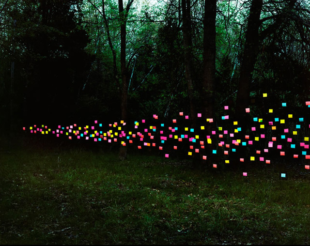 Flying Swarms of Everyday Objects by Thomas Jackson installation
