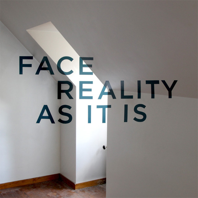 Face Reality As It Is Anamorphic Typography By Thomas