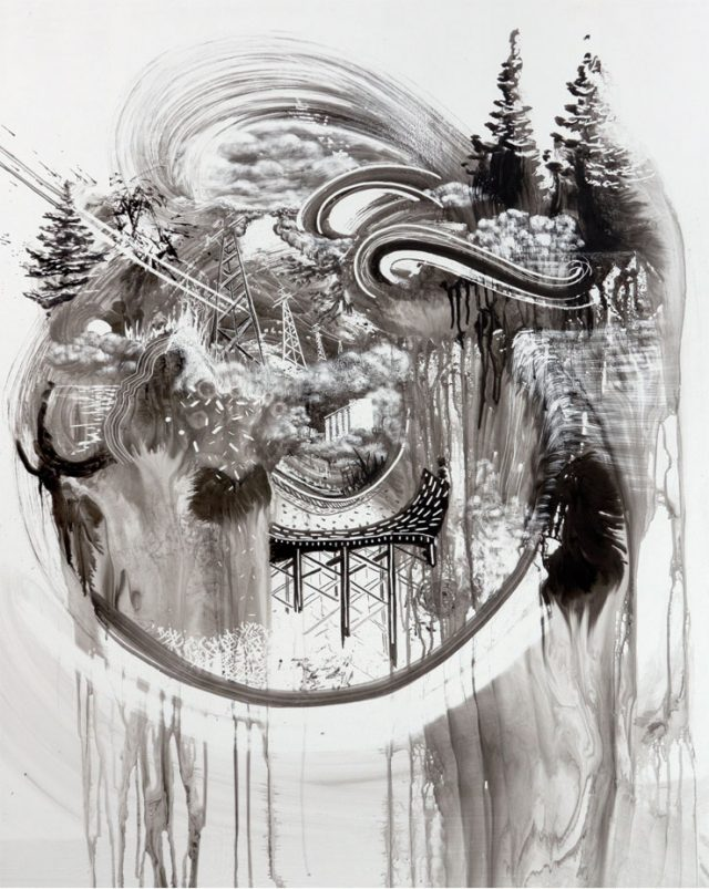 New Temporary Whiteboard Drawings by Gregory Euclide ink drawing