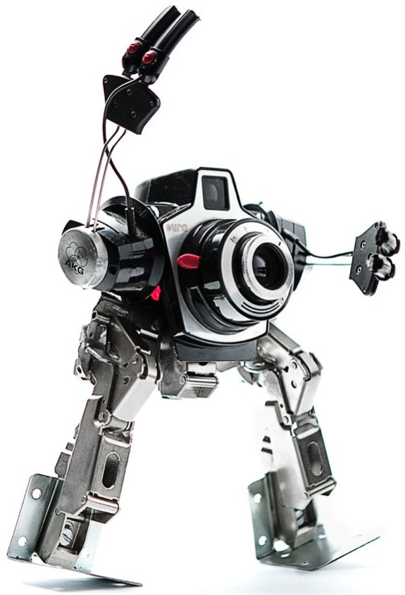 Mechanical Sculptures Built from Discarded Objects by Andrea Petrachi sculpture recycling