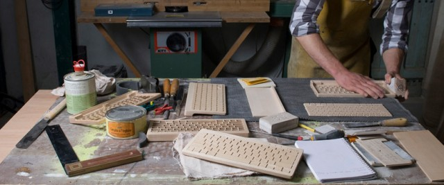 The Orée Wireless Wooden Keyboard wood keyboards computers