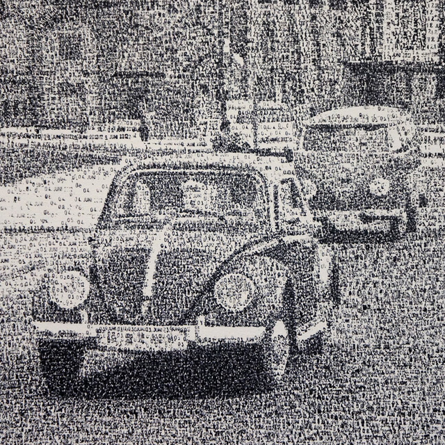 New Date Stamp Pointillism Paintings by Federico Pietrella stamps pointillism painting multiples