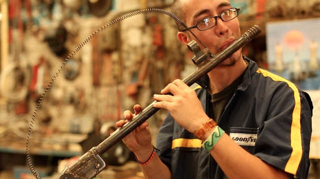 Artist Fabricates 50 Functional Instruments from Destroyed Drug War Weapons recycling music instruments guns