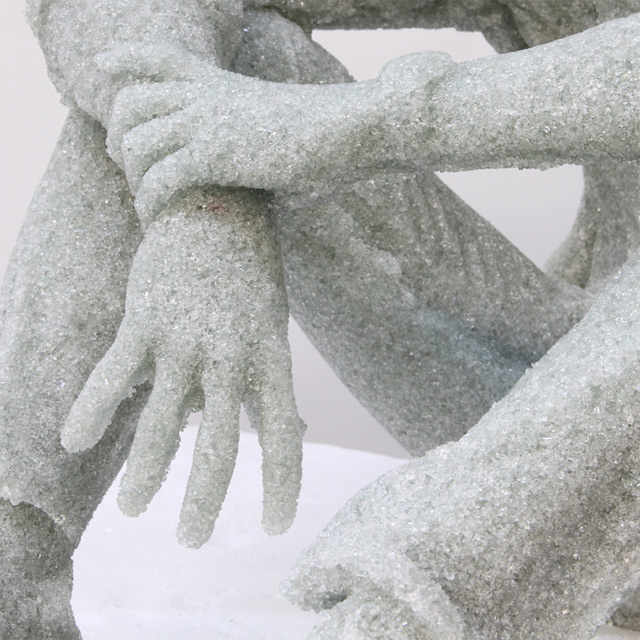 New Figurative Sculptures Made of Shattered Glass by Daniel Arsham sculpture glass